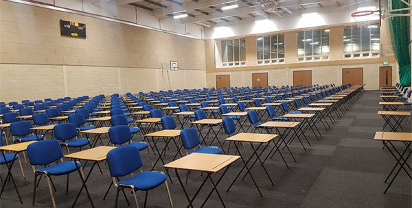Exam Hall Layout with Exam Desks & tables