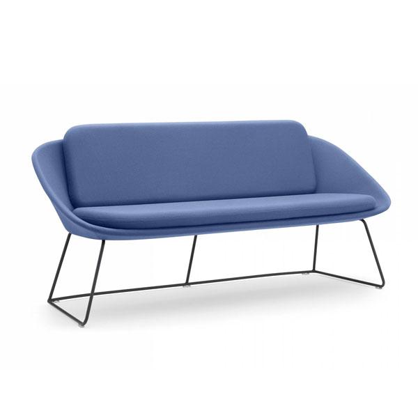 purple dishy sofa