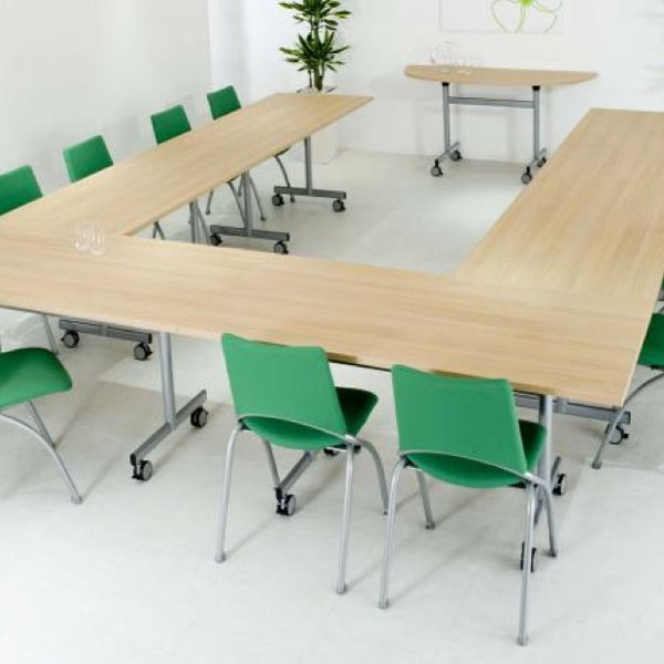 flip top modular meeting tables