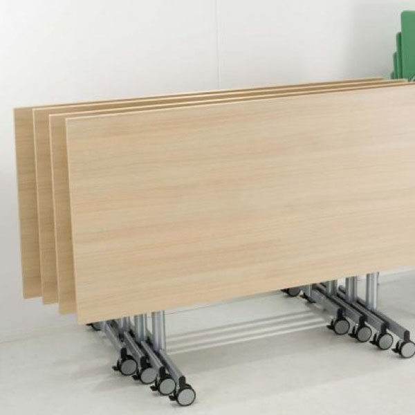 folded flip top modular meeting table