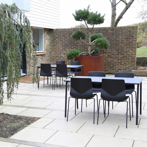 four outdoor tables & chairs