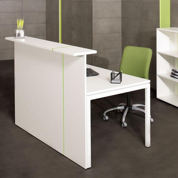 white versa reception desk