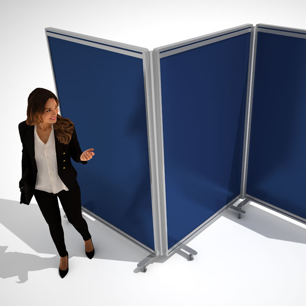 fabric mobile office partitions
