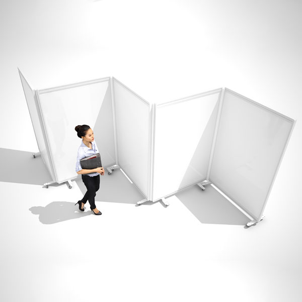 white mobile office screens